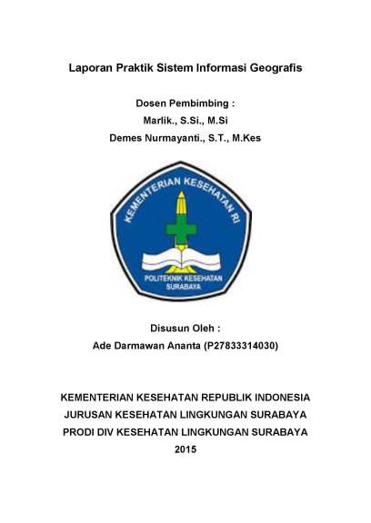 Laporan Praktik Sistem Informasi Geografis COVER